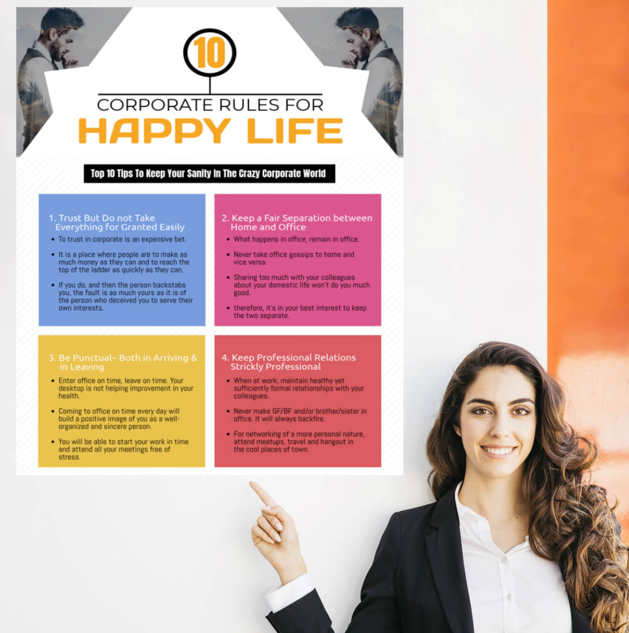 10 Golden Corporate Rules for Happy Life