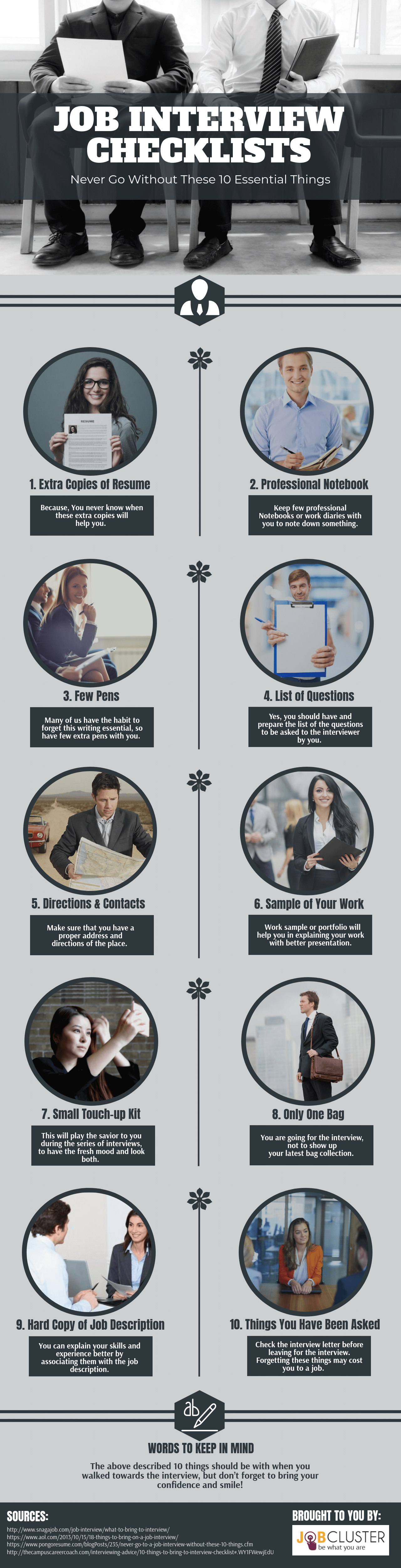 10 Important Things To Carry For The Job Interview