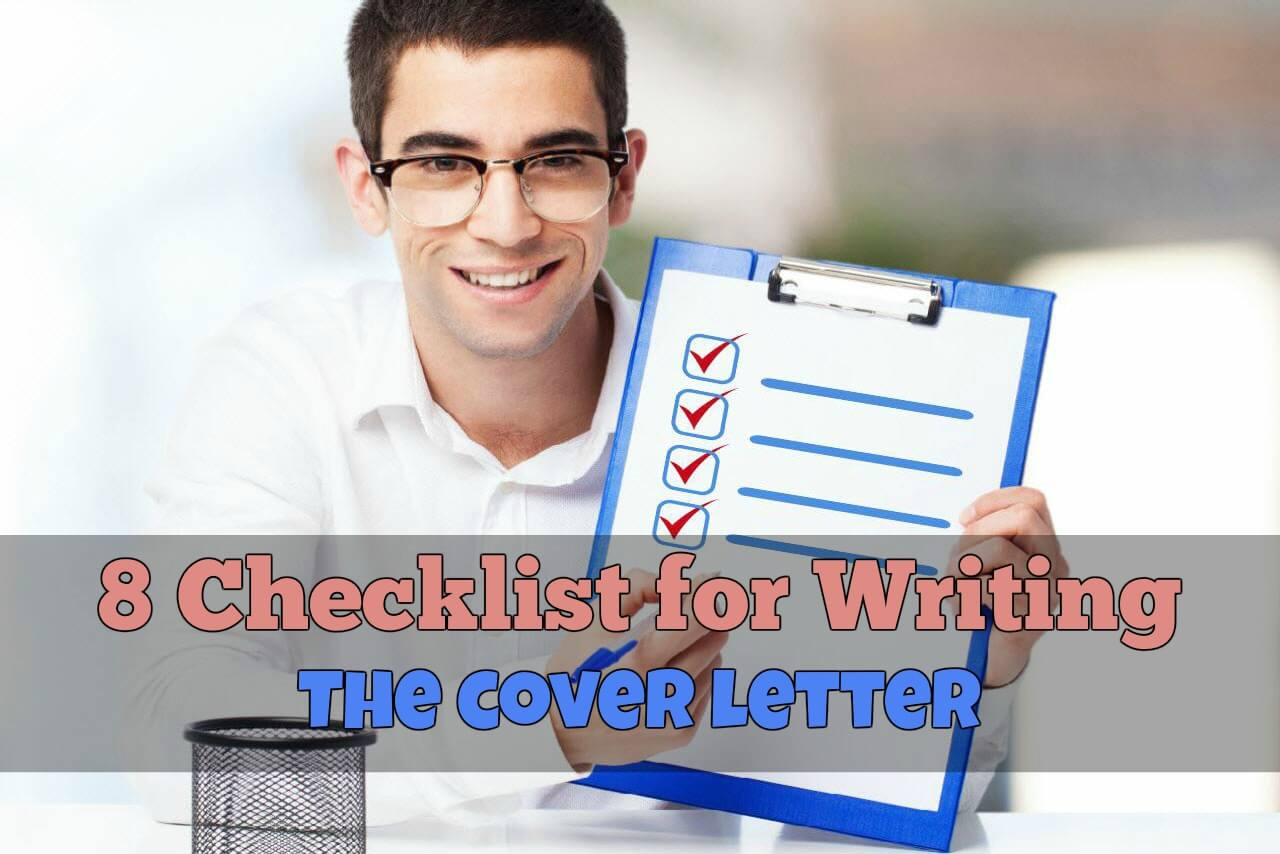 Checklist For Writing The Cover Letter To Sell Yourself