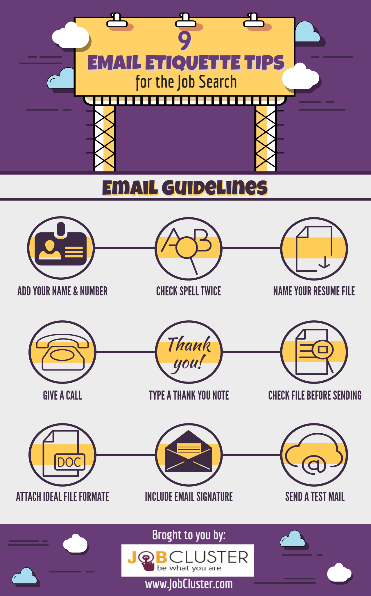 Email Etiquette Tips for Job Seekers- Infographic