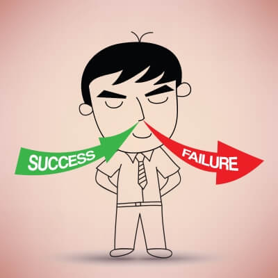 Inhale success and exhale failure