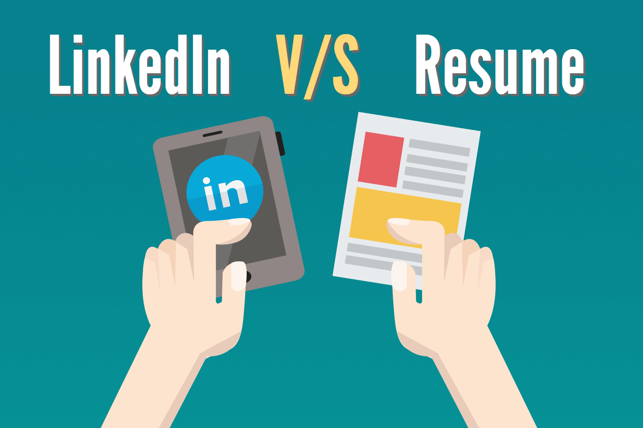 linkedin profile vs  resume