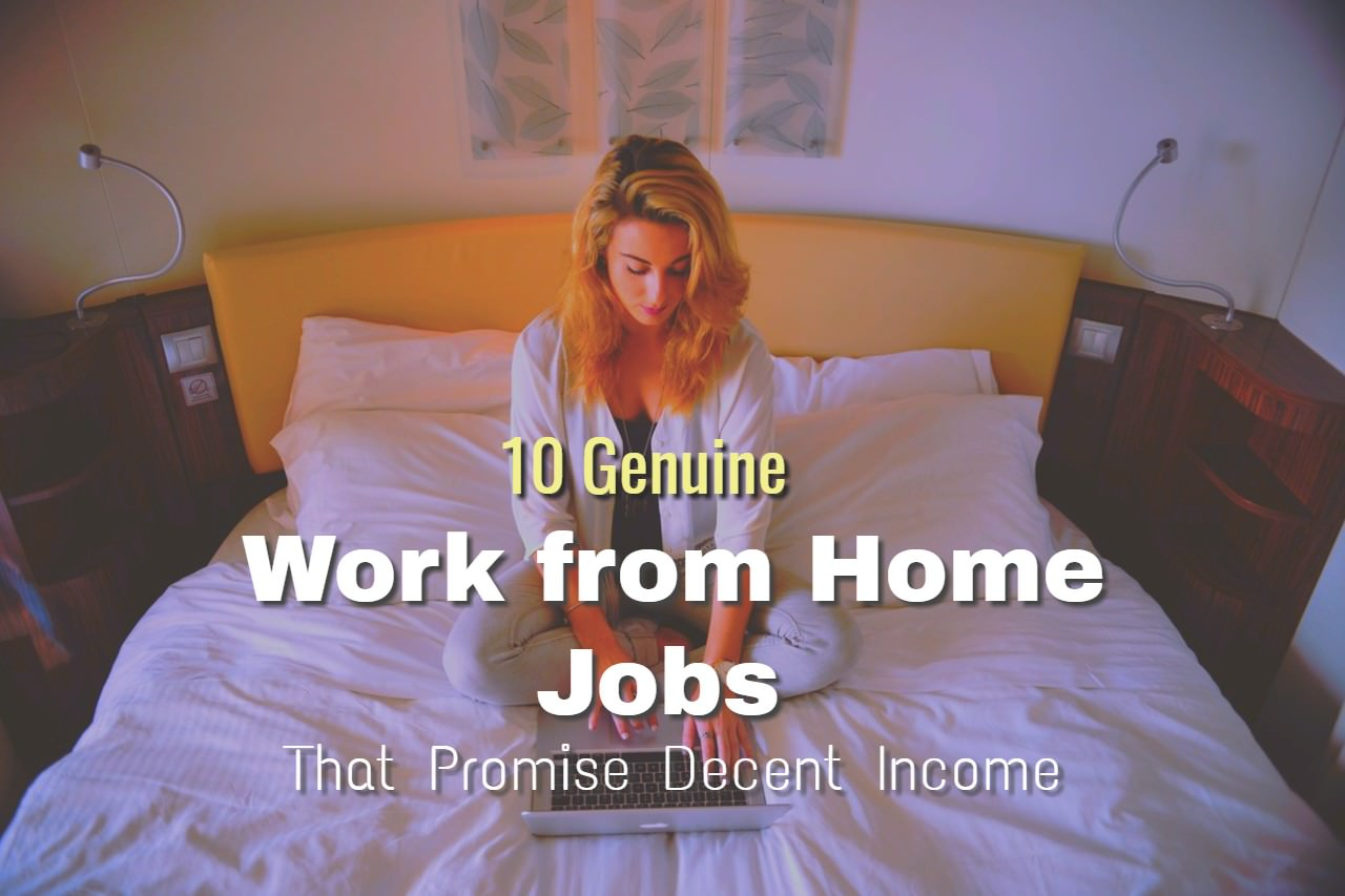 10 Real Online Work From Home Jobs That Offer Good Money