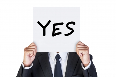 Sign board for saying YES