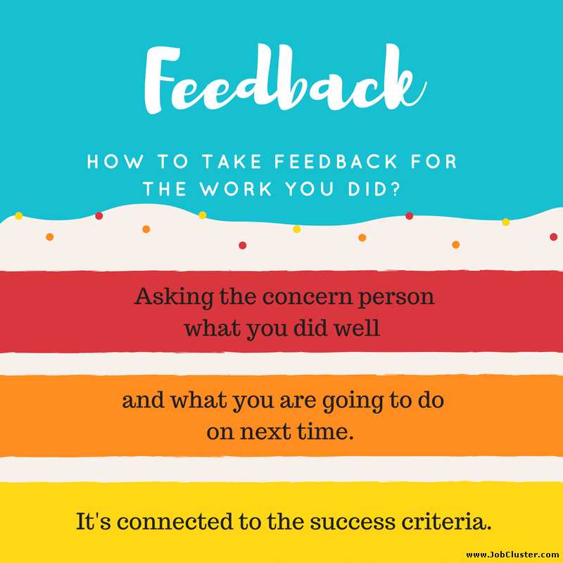 How To Take Feedback for Your Work