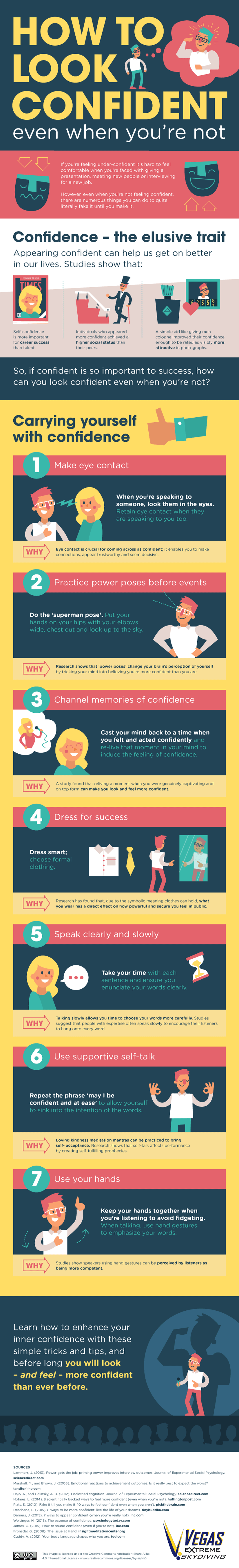 How to Look Confident Even When You're Not- Infographic