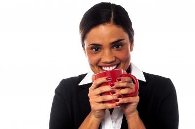 taking tea break