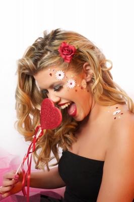 Happy Valentine Lady