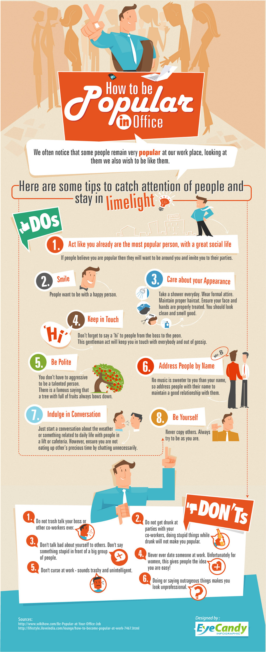 Infographic- how to be popular in office