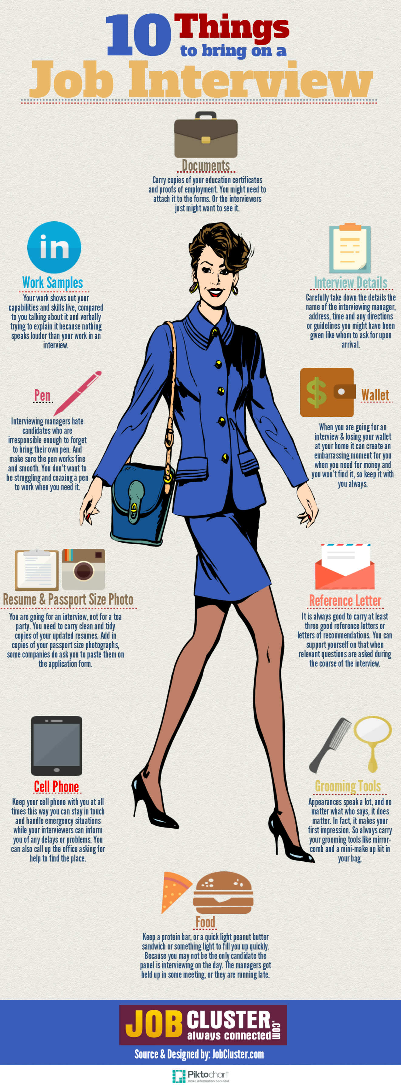 10 essential things to bring to the interview infographic 10 things to bring on a job interview infographic