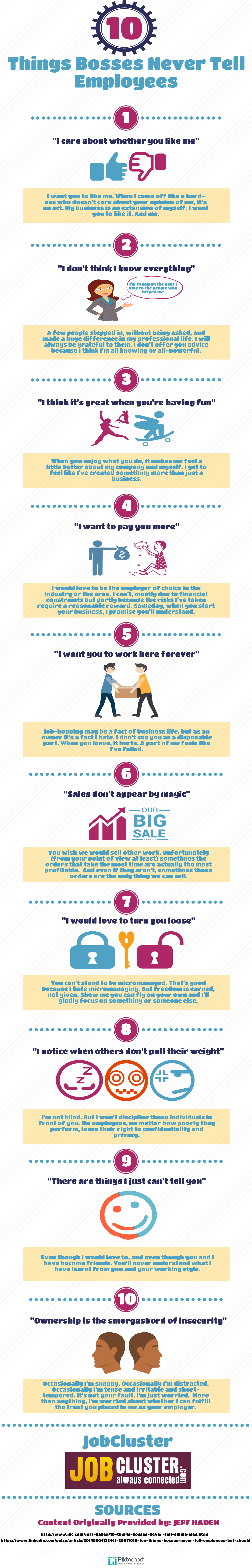 10 things bosses never tell employees- infographic