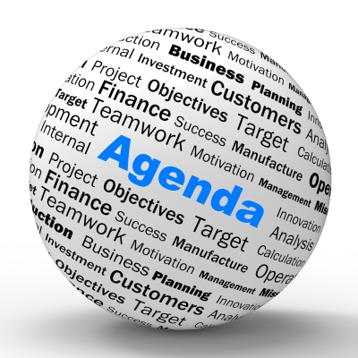 Agenda as Summary statement
