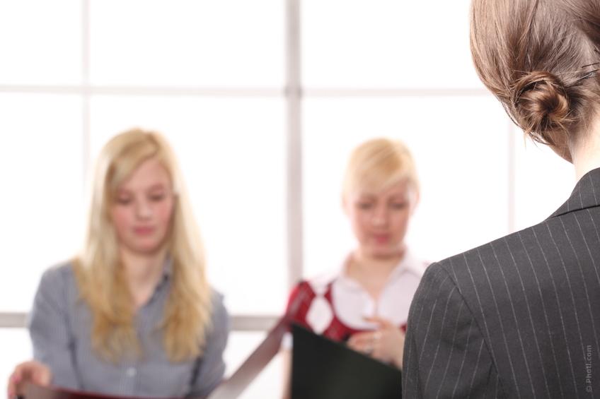 Women in job interview