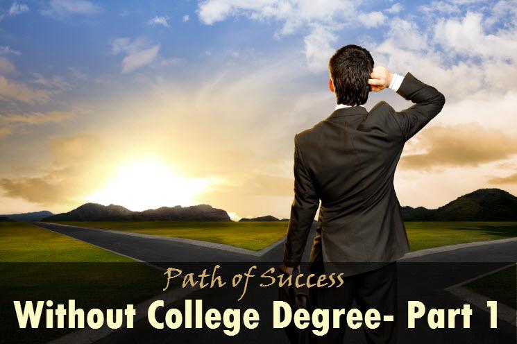 Confused man seeking for career path