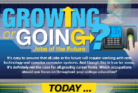 growing and falling jobs