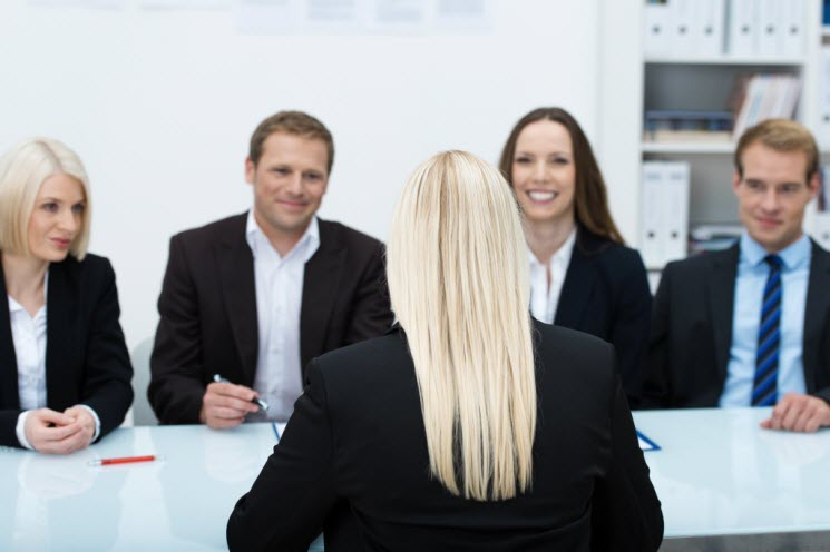Female on Job Interview