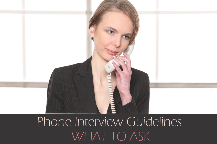 Phone interview guidelines