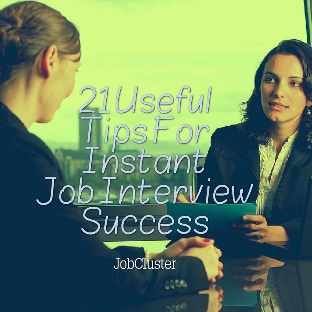 21 golden tips for job interview success