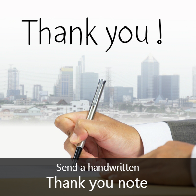 Write thank you note