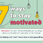7 Terrific Ways to Stay Motivated Always-  Infographic