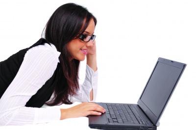 Relax GIrl Using Laptop