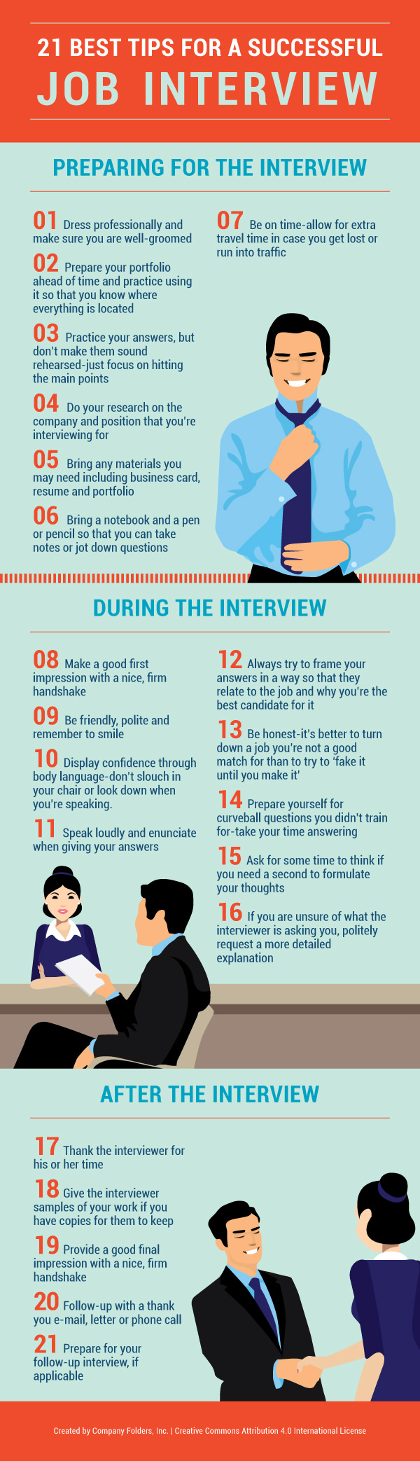 Infographic- 21 best tips for a successful job interview