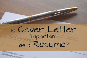 Is cover letter important as a resume?