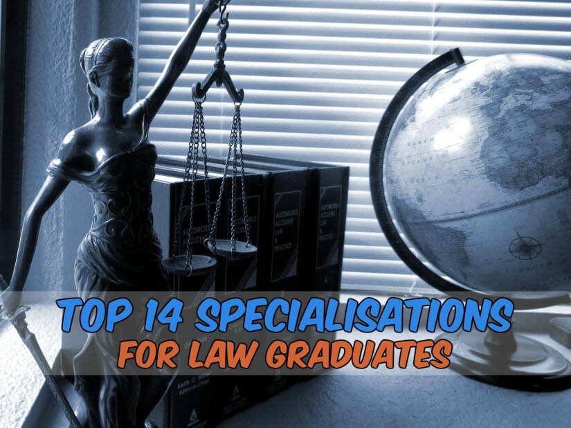 Top 14 Specialisations for Law Graduates