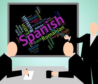 Spanish Language Shows Vocabulary Translator