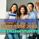 10 Most Popular Part Time Jobs for College Students