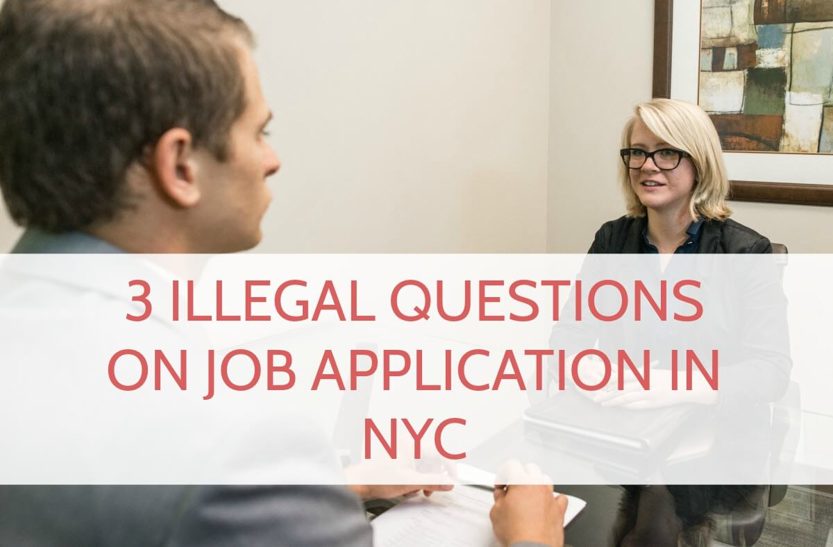 interviewer asking illegal questions